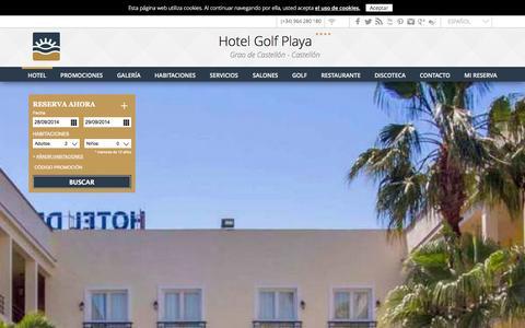 Screenshot of Home Page hoteldelgolfplaya.com - Hotel Golf Playa en Castellón - captured Sept. 30, 2014