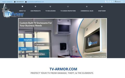 Screenshot of Home Page tv-armor.com - TV Screen Protectors | Enclosures | Monitor Protection | TV-Armor.com - captured Dec. 6, 2016
