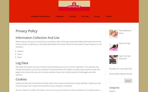 Screenshot of Privacy Page nemopolis.net - Privacy Policy - Nemopolis - captured Oct. 19, 2018