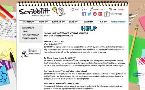 Screenshot of FAQ Page scribblitt.com - Scribblitt - Make Your Own Book - Kids Self Publishing - captured Oct. 18, 2018