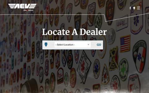 Screenshot of Maps & Directions Page aev.com - AEV Ambulance Dealers – Dealer Locator – New Ambulance for Sale - captured Oct. 3, 2018