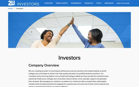 Investors | 2U, Inc.