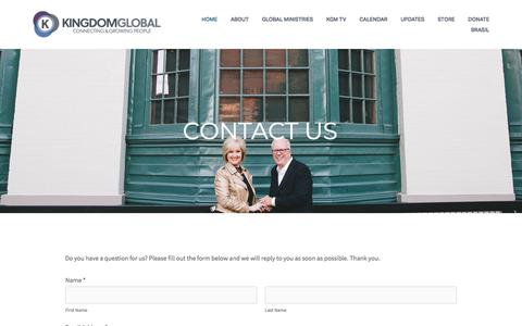 Screenshot of Contact Page kingdomglobal.com - Contact us — Kingdom Global Ministries - captured Jan. 16, 2018