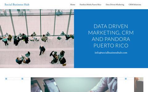 Screenshot of Home Page socialbusinesshub.com - Social Business Hub - crm, data driven marketing, digital media - captured Jan. 18, 2017