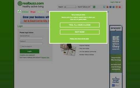 Screenshot of Login Page realbuzz.com - Log In | realbuzz - captured Oct. 31, 2014