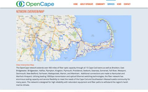 Screenshot of Maps & Directions Page opencape.org - Network Overview/Map - captured Oct. 6, 2014