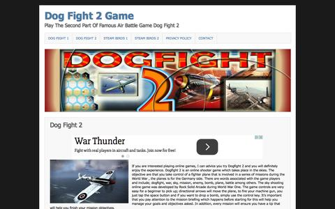 Screenshot of Home Page dogfight-2.com - Dog Fight 2 Game - captured Jan. 27, 2015