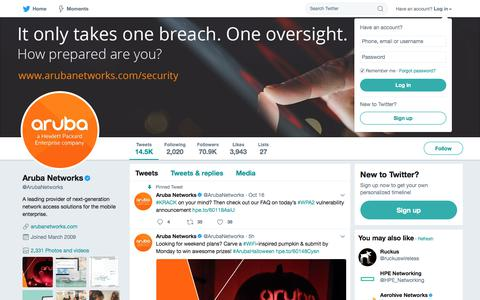 Aruba Networks (@ArubaNetworks) | Twitter