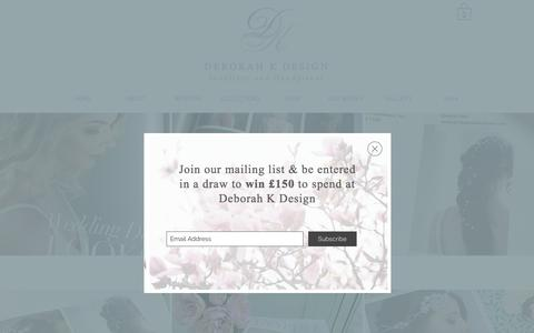 Screenshot of Press Page deborahkdesign.co.uk - deborahkdesign | PRESS - captured Aug. 6, 2018