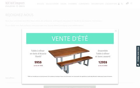 Screenshot of Jobs Page kifkifimport.com - Rejoignez-nous - Kif-Kif Import - captured Sept. 20, 2018