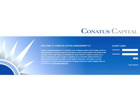 Screenshot of Home Page conatuscapital.com - Conatus Capital Management LP - captured Nov. 10, 2016