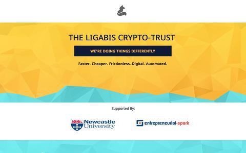 Screenshot of Landing Page pagewiz.net - The Ligabis Crypto-Trust - captured July 23, 2017