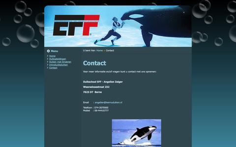Screenshot of Contact Page leernuduiken.nl - Education For Fun - EFF - Contact - captured Oct. 2, 2014