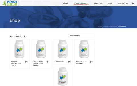 Amino Acids Archives - Private Label Supplements and Vitamins