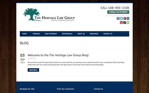 Screenshot of Blog hlgusa.com - Real Estate Law San Jose | Estate Planning San Jose | BLOG - captured Oct. 2, 2014