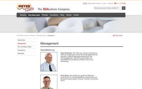 Screenshot of Team Page meyer-seals.com - Meyer Seals - Management - captured Sept. 20, 2018