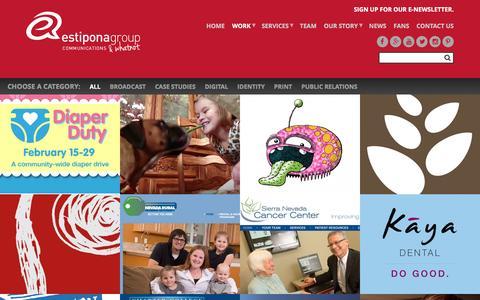 Screenshot of Case Studies Page estiponagroup.com - EG Projects | EG works | Estiponagroup.com - captured July 15, 2016