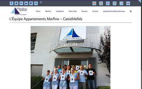 Screenshot of Team Page marfina.com - Appartements Marfina - Site Officiel - Castelldefels - Équipe - captured May 19, 2018