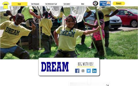 Screenshot of Home Page dreamprogram.org - The DREAM Program | Village Mentoring Program | The United States - captured Oct. 19, 2018
