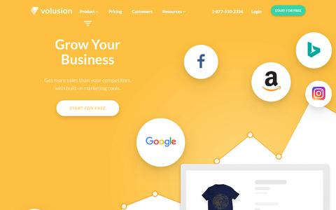 Screenshot of volusion.com - Grow Your Business With Our Complete Ecommerce Solution - captured Aug. 23, 2017
