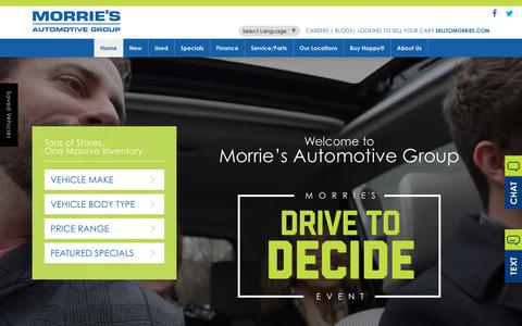 Screenshot of Home Page morries.com - Morrie's Automotive Group | New & Used Car Dealer in MN & WI - captured Sept. 22, 2017