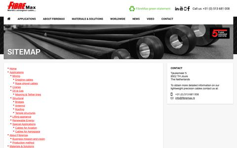 Screenshot of Site Map Page fibremax.nl - Sitemap - Fibremax lightweight synthetic cables - captured Oct. 13, 2017