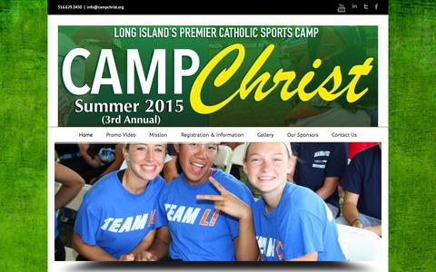 Screenshot of Home Page campchrist.org - Camp Christ - captured Oct. 3, 2014
