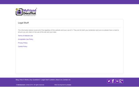 Screenshot of Terms Page myfrienddoesthat.com - MyFriendDoesThat - captured Oct. 9, 2014