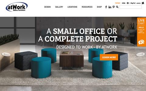 Screenshot of Home Page atwork.ca - Office Furniture | Office Furniture Ontario, Canada | atWork.ca - captured Feb. 6, 2016