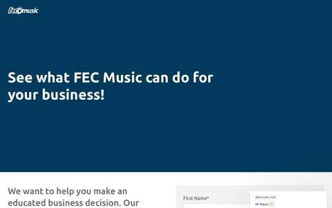 Screenshot of Trial Page fecmusic.com - fecmusic.com says… - captured Dec. 9, 2018