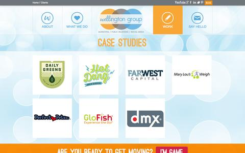 Screenshot of Case Studies Page wellingtongrouppr.com - Case Studies - Austin Public Relations, Marketing & Communications - Wellington Group Marketing & PR - captured Oct. 26, 2014