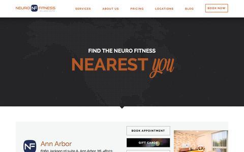 Screenshot of Locations Page neurofitcenter.com - Locations – Main   NeuroFitness Wellness Center - captured Nov. 29, 2016