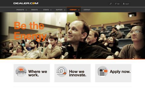Screenshot of Jobs Page dealer.com - Technical engineering - captured Jan. 2, 2016