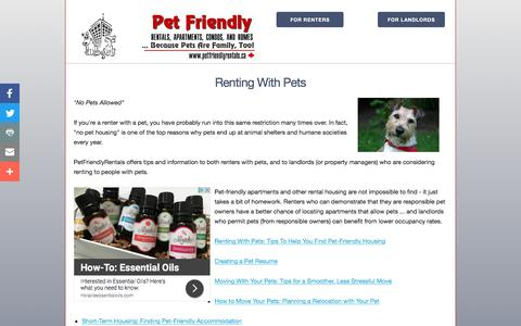 Screenshot of Home Page petfriendlyrentals.ca - Pet-Friendly Apartments for Rent in Canada, Condos, Homes. Dogs and Pets Allowed/Accepted. - captured Feb. 12, 2017