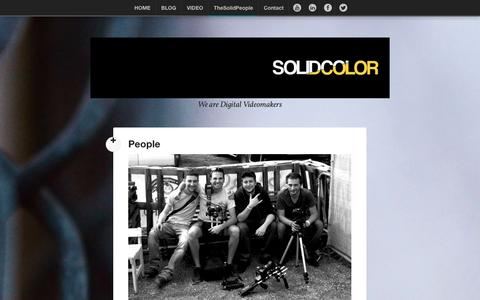 Screenshot of Team Page solidcolor.org - People | TheSolidColor - captured Sept. 30, 2014