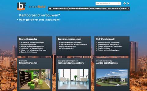 Screenshot of Home Page brickfield.nl - Huisvestingsadvies, bouwprojectmanagement en makelaardij | Brickfield » Brickfield - captured Oct. 5, 2014