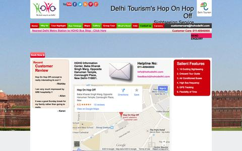 Screenshot of Contact Page hohodelhi.com - Delhi day tour | Delhi darshan | Delhi bus tour | Delhi tourism bus service - captured Nov. 3, 2014
