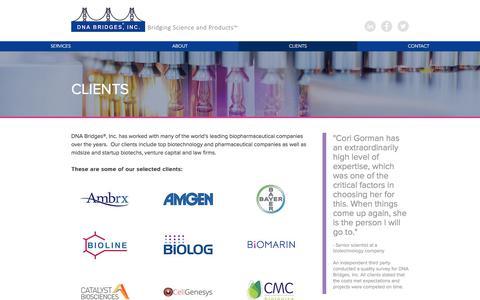 Screenshot of Testimonials Page dnabridges.com - Clients | DNA Bridges - captured Sept. 24, 2018