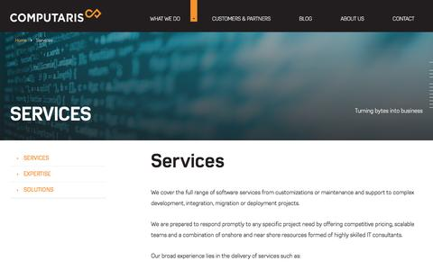 Screenshot of Services Page computaris.com - Software development services | Computaris - captured May 20, 2017