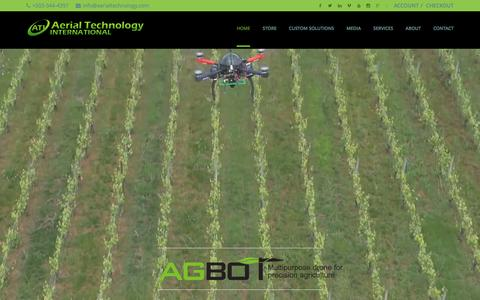 Screenshot of Home Page aerialtechnology.com - Aerial Technology International - captured Nov. 20, 2016