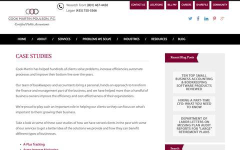 Screenshot of Case Studies Page cookmartin.com - Case studies - Cook Martin Poulson - captured Sept. 29, 2018