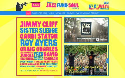 Screenshot of Home Page mostlyjazz.co.uk - Mostly Jazz, Funk & Soul Festival | Birmingham, UK - captured July 3, 2018