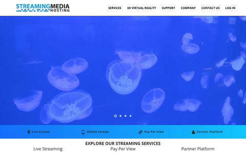 Screenshot of Home Page streamingmediahosting.com - CDN | Content Delivery Network - Streaming Media Hosting - captured June 17, 2017