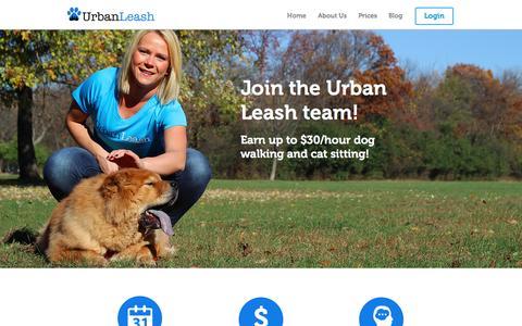 Screenshot of Jobs Page urbanleash.com - Dog Walking and Cat Sitting in Chicago - captured Dec. 21, 2016