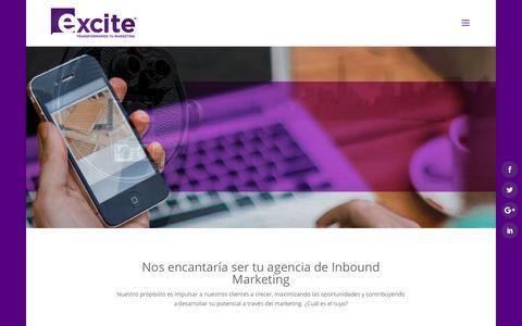 Screenshot of Home Page excite.com.mx - Bienvenido a Excite - Inbound Marketing México - captured Nov. 13, 2016