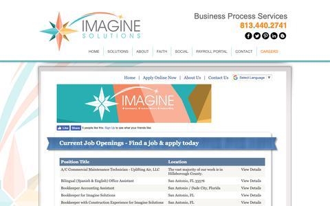 Screenshot of Jobs Page helpmeimagine.com - Work With Us - captured Oct. 11, 2018