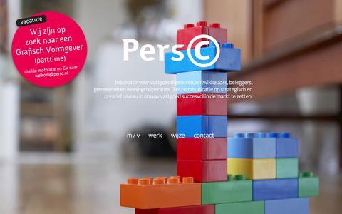 Screenshot of Home Page persc.nl - PersC Rotterdam   Vastgoed Communicatie - captured June 17, 2015