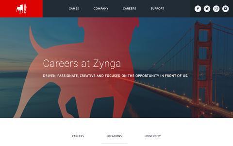 Screenshot of Locations Page zynga.com - Career Locations - Zynga - Zynga - captured Nov. 8, 2018