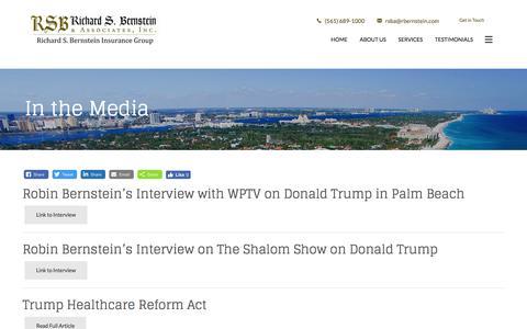 Screenshot of Press Page rbernstein.com - In the Media | Richard S. Bernstein & Associates, Inc. - captured Oct. 26, 2017