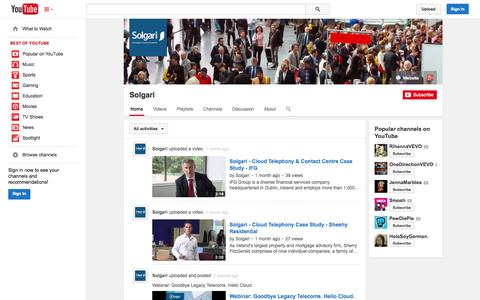 Screenshot of YouTube Page youtube.com - Solgari  - YouTube - captured Oct. 29, 2014